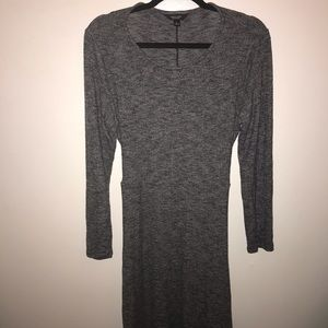 Simply Vera Vera Wang Gray Tie Waist Dress